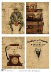Декупажные карты Men & Vintage 2  30 гр/м2