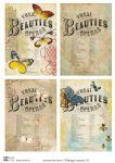 Декупажные карты Vintage insects 5
